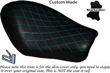 DIAMOND STITCH L BLUE CUSTOM FOR HARLEY SPORTSTER LOW IRON 883 SOLO SEAT COVER