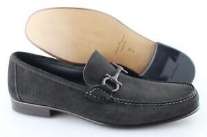 Men's SALVATORE FERRAGAMO 'Giordano' Dark Brown Suede Loafers Size US 12 - E