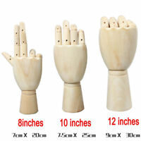 Wooden Hand Body Artists Model Jointed Articulated Wood Artwork Sculpture 6339