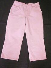 CAMBIO Pink Crop Capri Jeans Style *Karen* Cotton-Blend Stretch Size 10