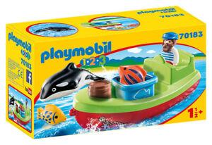 Playmobil Boot Der Angler 1.2.3 70183 Playmobil