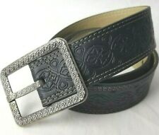 Relic Belt Womens Size S Small Black Faux Leather Textured Adjusts 28.5 to 32.5
