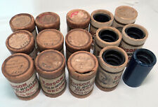 Lot of 12 Edison Gold Moulded Records, 1 Amberola Cylinder Records & Cases