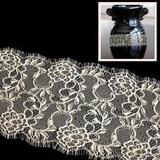 175mm Vintage Style Lace Beige Scalloped Edge Eyelash Trim DIY Dressmaking 3m