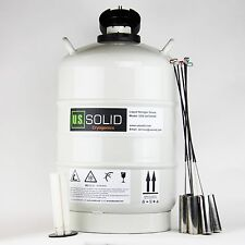 20 L Liquid Nitrogen Tank Ln2 Dewar Cryogenic Container 6 Canisters Ussolid