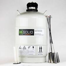 20 L Liquid Nitrogen Tank LN2 Dewar Cryogenic Container U.S.Solid® 6 Canisters