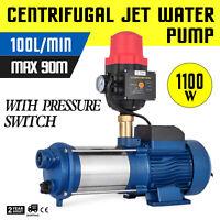 Elettropompa Centrifuga Pompa Autoadescante Acqua 1.1KW con Contenitore da 100L