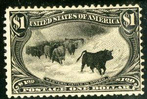 US Stamps # 292 MHR F-VF Fresh color. Scott Value $1,400.00