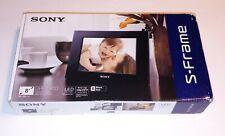 Sony S-Frame LED Backlight DPF-D810 Black 800 x 600 Pixels Digital Picture Frame