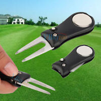 Groove Cleaner Ball Marker Golf Golfer Pitch Green Divot Repair Switchblade Tool