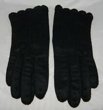Vtg Hansen Black Nylase Tailored Gloves Size 6.5 Washable
