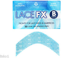 Vapon LACE FX B Curve Fronts for Lace Wigs & Hairpieces  25 pcs,clear