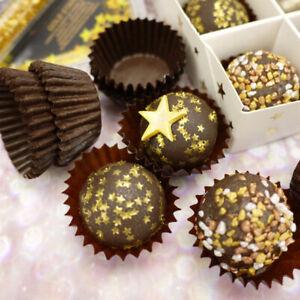 Premium Muffin Petit Four Cake Cases - Mini Cupcake Truffle Paper -Black / White