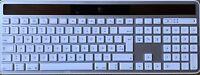 New White Wireless Solar Keyboard Logitech K750 For Mac Receiver QWERTY Dansk