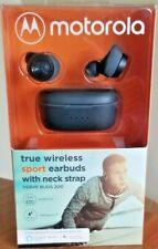 Motorola Verve Buds 200 True Wireless Bluetooth Sport Earbuds w/Neck Strap Black