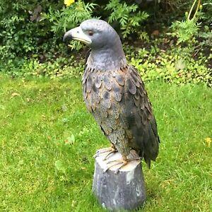 Metal Garden Sculpture - Eagle Statue - Outdoor Patio Yard Art Lawn Decoration