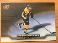 UPPER DECK 2015-2016 SERIES TWO PATRICE BERGERON CANVAS HOCKEY CARD C-126