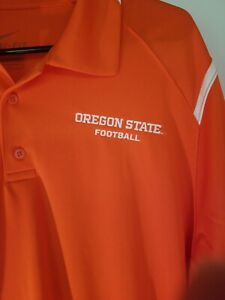 Nike Dri-Fit Men's L Large Oregon State Beavers Football Polo Shirt NWT