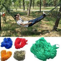 Swing Outdoor Nylon Portable Hammock Hanging Mesh Sleeping Bed for Camping UK
