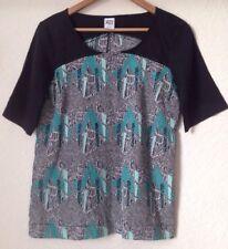 Vera Moda Size M Sateen Feel Short Sleeve Patterned Top <BC949