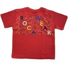 ROCAWEAR BOYS SHIRT - LOGO FRONT SZ 5/6 RED - TOP TEE SHIRT PRINTED KIDS