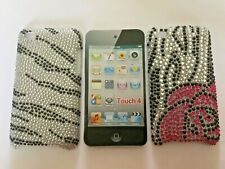BLING DIAMANTE BACK CASE / COVER FOR APPLE iPOD TOUCH 4th GENERATION - 2 DESIGNS
