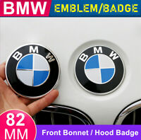 1X BMW Front Hood Bonnet Badge Caps Cover Emblem 82MM With BMW Logo Brand New