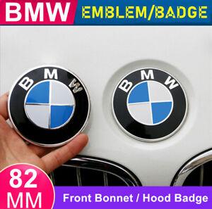 1X BMW Front Hood Bonnet Badge Caps Cover Emblem 82MM With BMW Logo Brand New