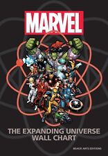 Marvel : The Expanding Universe Wall Chart by Michael Mallory (2014, Hardcover)