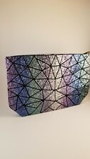 Sequined geometric womens handbag. Bao style evening clutch