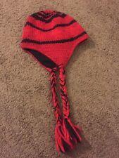 NORTH FACE Peruvian Boulder Beanie Unisex Red Black