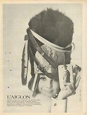 Publicité  1966  L'AIGLON ceintures bretelles cravates boutons de manchette