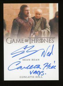 2021 Game of Thrones Iron Anniversary DUAL Autograph SEAN BEAN CONLETH HILL Auto