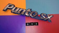 GENUINE FIAT PUNTO SX BLUE & CHROME PLASTIC REAR BADGE EMBLEM. 7798296