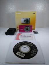 Canon PowerShot A2300 16.0MP Digital Camera Pink With Charger and Original Box