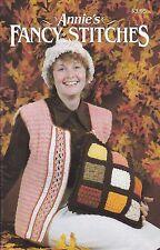 Crochet Pattern ~ Annie's Fancy Stitches Hat, Vest & Pillow ~ Instructions