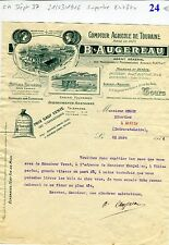 Dépt 37 & Dépt 86 - Tours - Superbe Entête du Comptoir Agricole de Touraine 1916
