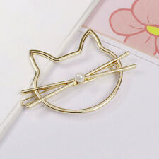 Cat Hollow Hair Pin Hair Clip Barrette Pins Grips Wedding Bridal Jewelry Gold