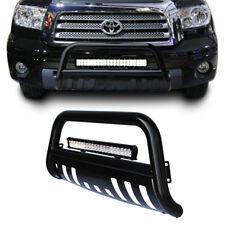 Black Bull Bar Brush Bumper Grille Guard +126W Led Light for Toyota Tundra 07-17