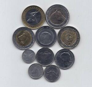 ALGERIA 10 HIGH GRADE COINS FAUNA ANIMAL SET 1992 - 2018 1/4 DINAR TO 200 DINARS