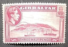 GIBRALTAR STAMPS MM -GeorgeVI New Drawings 1,5d carmine perf 14, 1938,*, CAT 35£