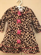BONNIE JEAN NWT BROWN/PINK LEOPARD COAT AND HAT SET SIZE 18 MONTHS