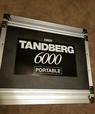 TANDBERG 6000 MXP PORTABLE W/ CAMERA WAVE II, MIC AT871R, REMOTE TRC-3, CABLES