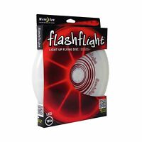 Nite Ize Flashflight LED Light-Up Flying Disc Red Ultimate Glowing Frisbee 185g