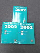 2002 Chevrolet Chevy Pontiac Grand Am Oldsmobile Alero Service Manual Set