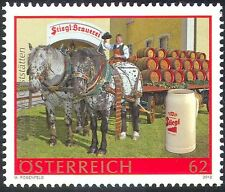 Austria 2012 Stiegl Brewery/Horses/Cart/Dray/Beer/Alcohol/Transport 1v (n42200)