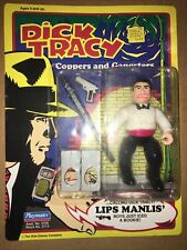 New listing Dick Tracy Coppers & Gangsters Lips Manlis Action Figure Playmates1990 Unpunched