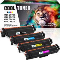 4PK Toner Fits for HP 410X CF410X Color LaserJet Pro MFP M477fnw M477fdw M452dn