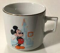 Walt Disney World Mickey Mouse Vintage Gold Accents Coffee Mug / Tea Cup - Japan