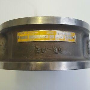 """TRW Mission G15CVF-246 4"""" Model A Wafer Check Valve NOS OEM 150 ANSI 275 CWP-PSI"""